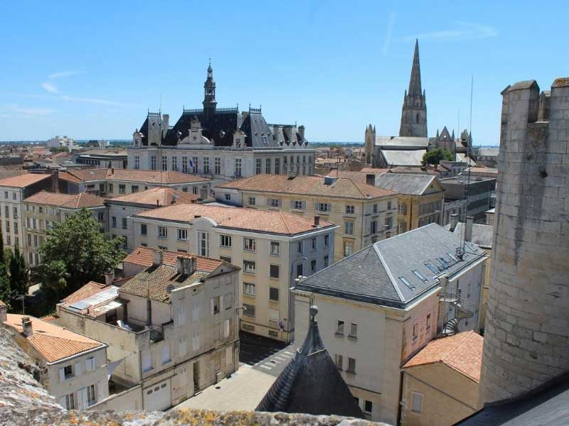 Looking over the roof tops of Niort, capital of Deux Sevres in south west Farance