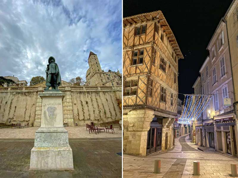 Statue of famous Musketeer D'Artagnan at the city of Auch, Gers