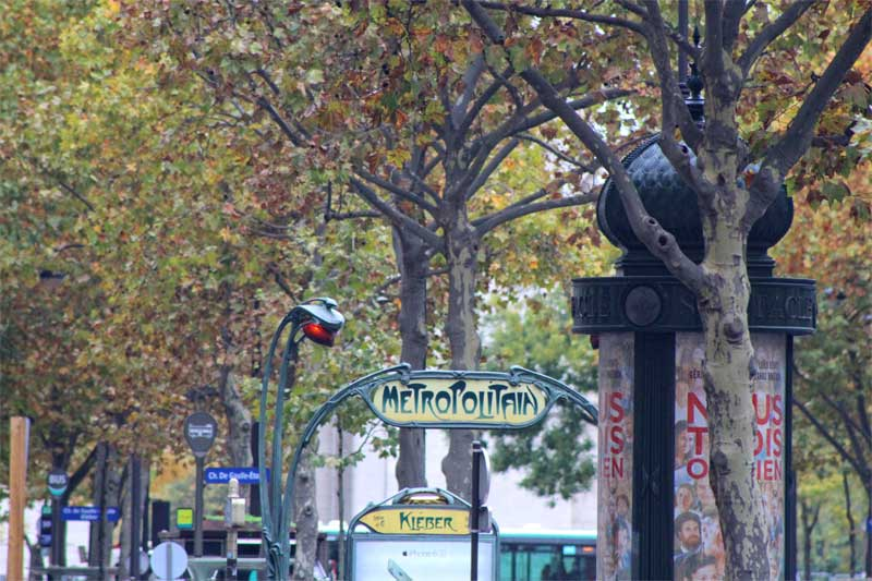 Advertising column on a Paris street