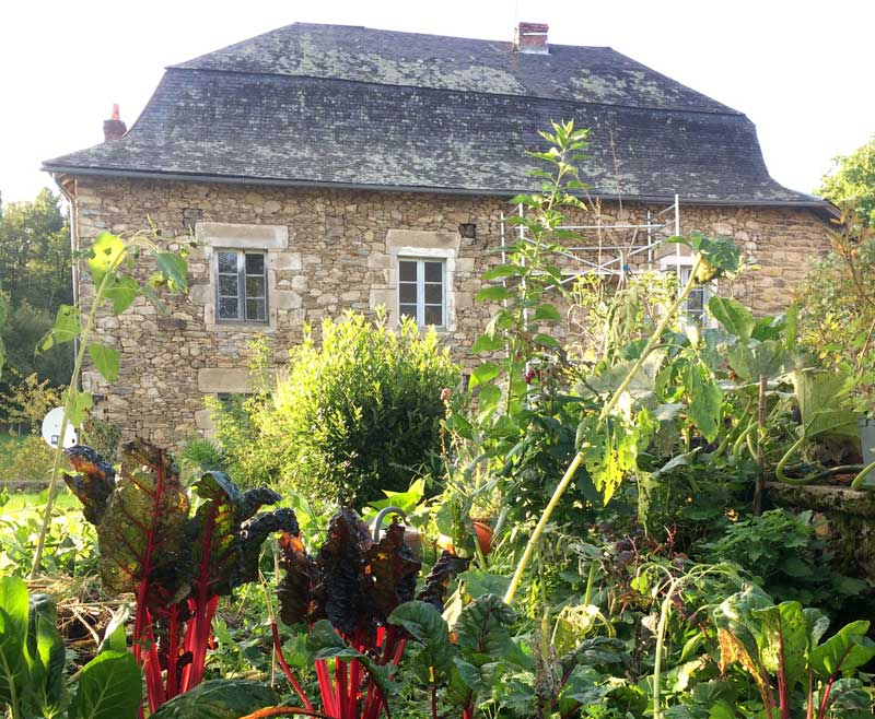 Pretty stone house with black slate roof bring renovated, Correze, Limousin