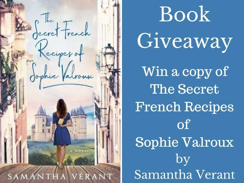 Copy of a book jacket for Secret French Recipes of Sophie Valroux for book give away