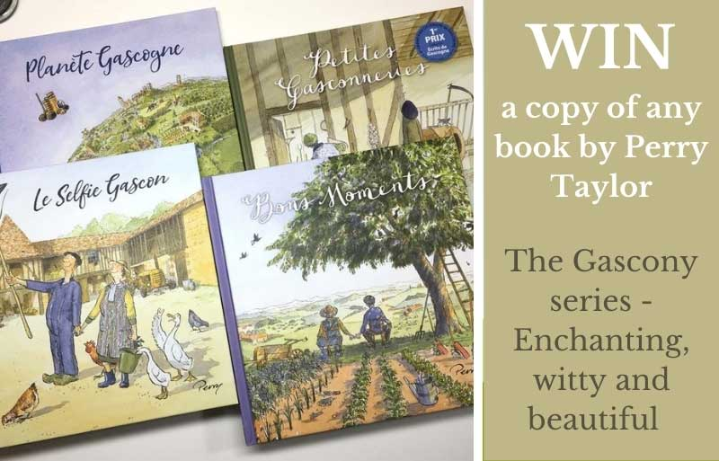 Book covers for Perry Taylor's books about Gascony