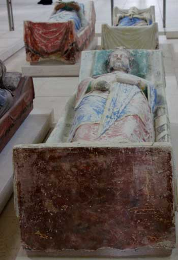 Stone effigy of Richard the Lionheart at the Abbey of Fontevraud, Loire Valley